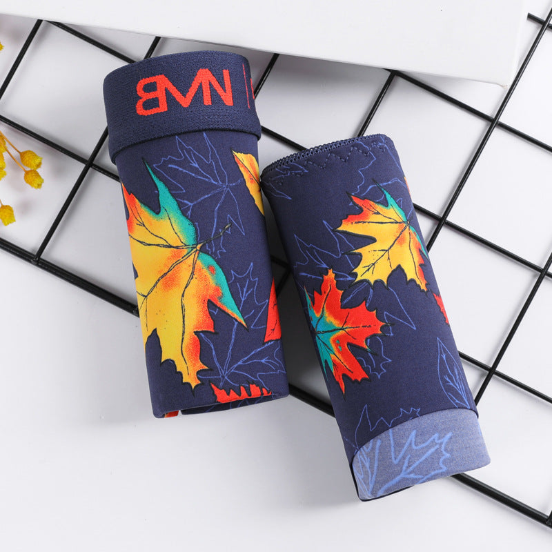 New European and American sexy maple leaf underwear for men and women
