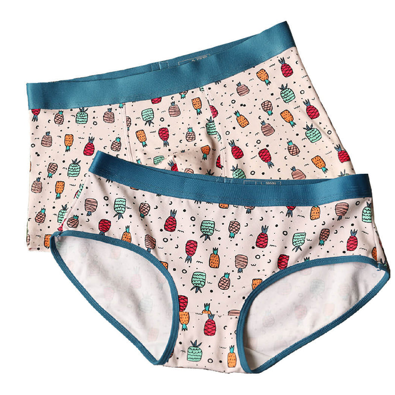 Cute Pineapple Couple Underwear - Pinklouds