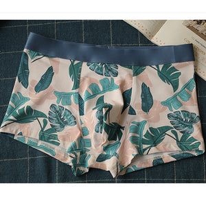 Green Leaves Cotton Couple Underwear-His & Her Matching Apparel-Pinklouds