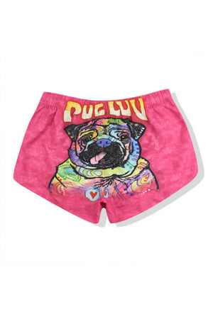 Pink Couple Matching Beach Shorts - Corby - Pinklouds