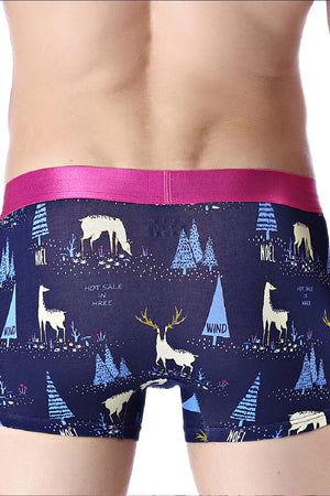Christmas Reindeer Couple Underwear-His & Her Matching Apparel-Pinklouds