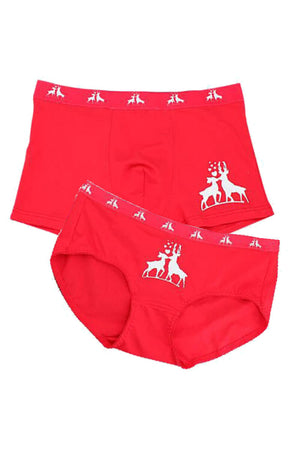 Elk Couple Underwear-His & Her Matching Apparel-Pinklouds