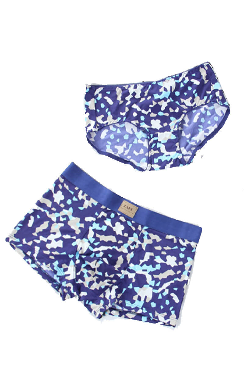 Fashion Printed Couple Matching Underwear - Lantier - Pinklouds