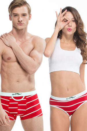 Stripes Couple Matching Underwear - Laprise - Pinklouds