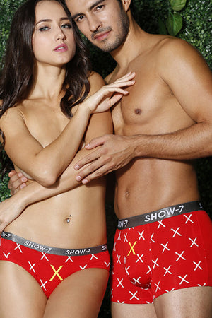 Word Printed Couple Matching Underwear - Lauve - Pinklouds