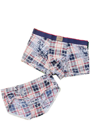 Plaid Couple Underwear-His & Her Matching Apparel-Pinklouds