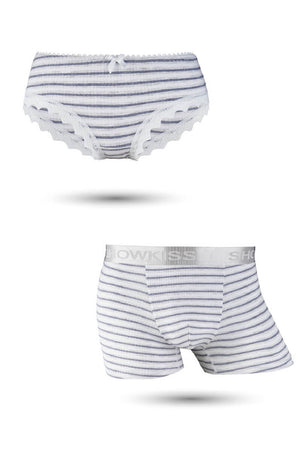 Stripes Couple Underwear - Pinklouds