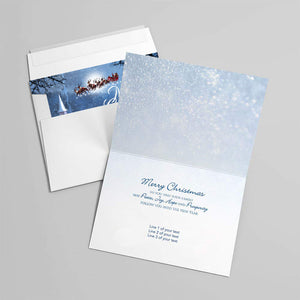Custom Merry Christmas Greeting Card for Family of Dog & Cat Owner