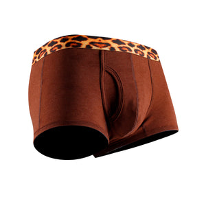 Brown Leopard Cotton Couple Underwear - Hipster & Trunk