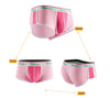Colorblock Pink Cotton Couple Underwear
