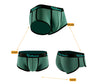 Deep Green Cotton Couple Underwear - Cheeky Brief & Trunk