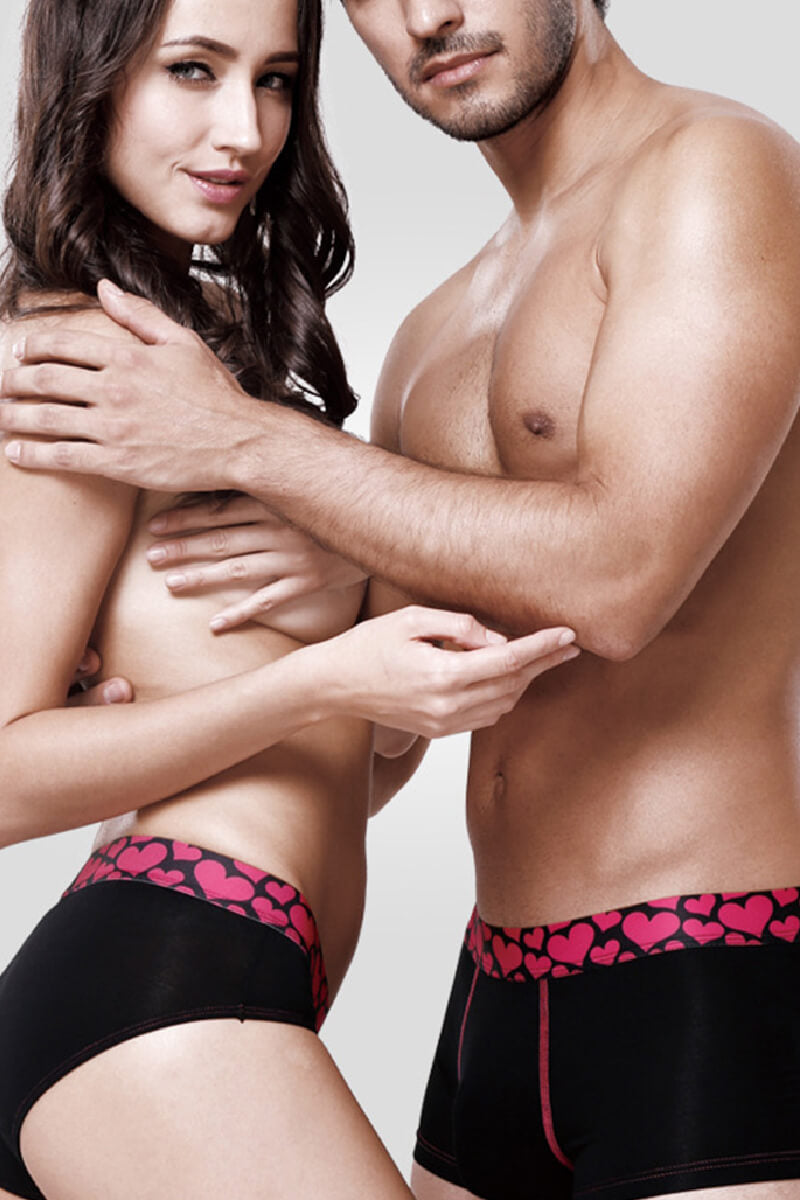 Pink Heart Couple Underwear - Pinklouds
