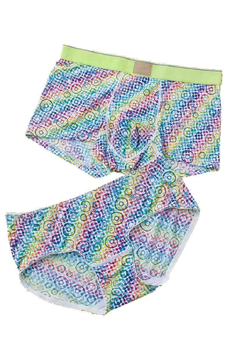 Colorful Pattern Couple Matching Underwear - Lasalle - Pinklouds