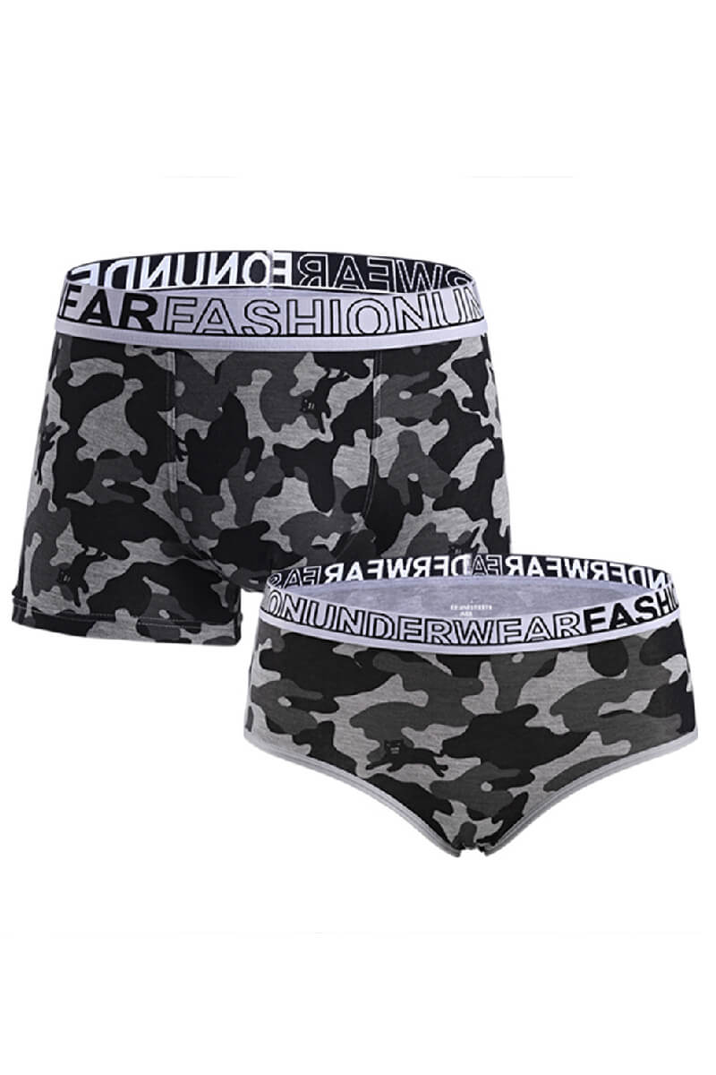 Camouflage Couple Underwear-His & Her Matching Apparel-Pinklouds