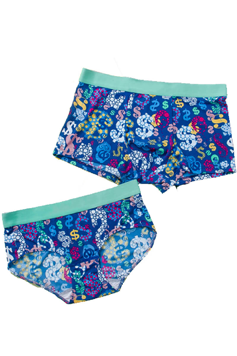 Colorful Symbol Couple Matching Underwear - Laroche - Pinklouds