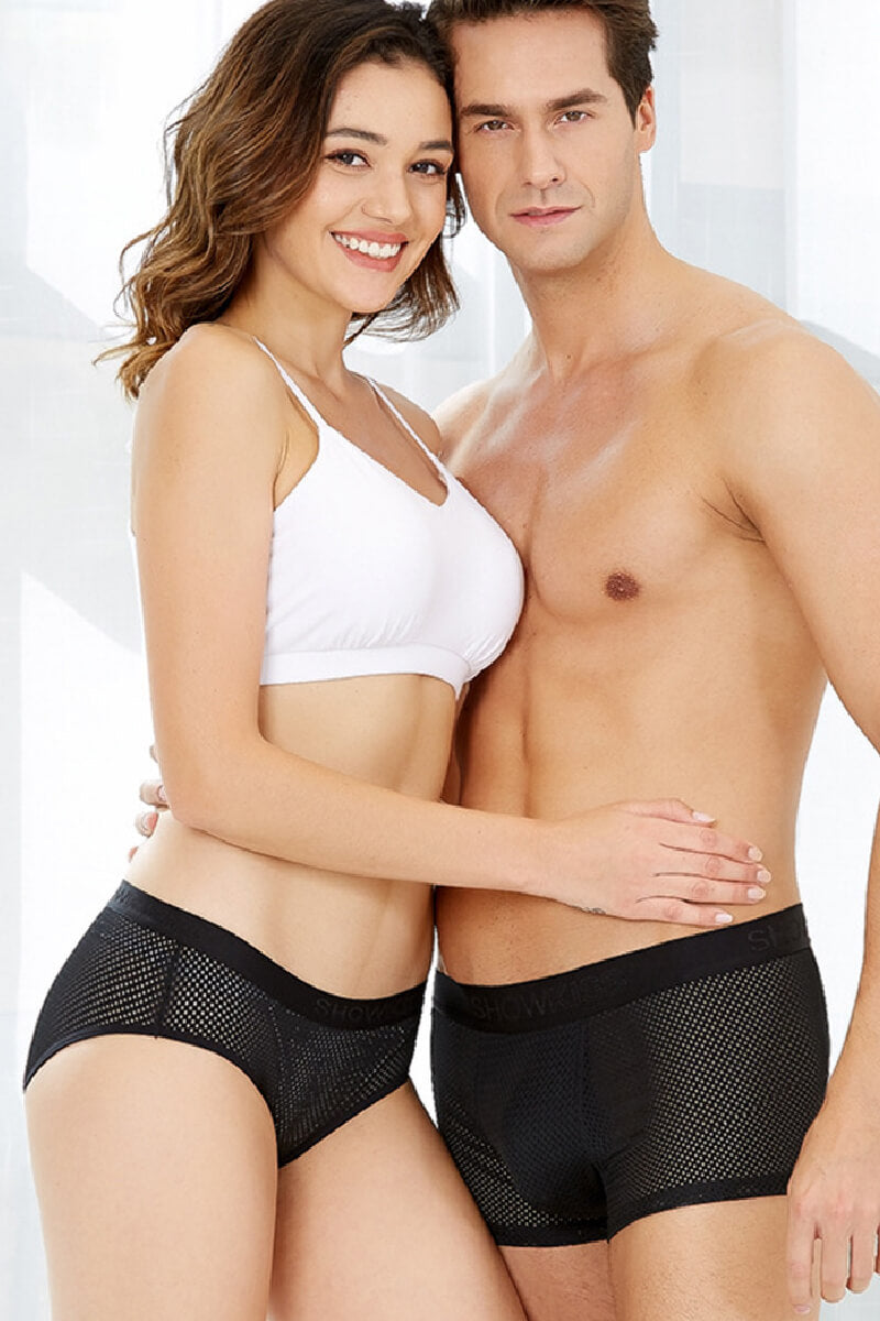 Mesh Couple Underwear-His & Her Matching Apparel-Pinklouds