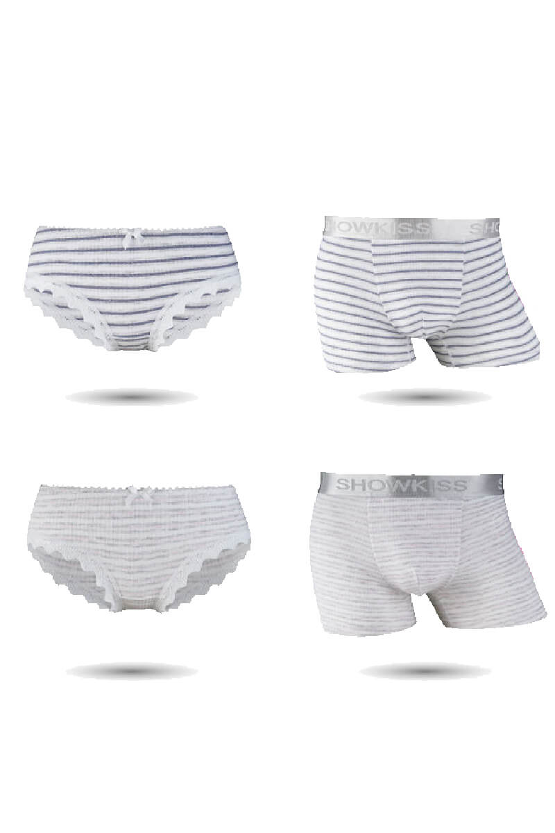 Stripes Couple Underwear-His & Her Matching Apparel-Pinklouds