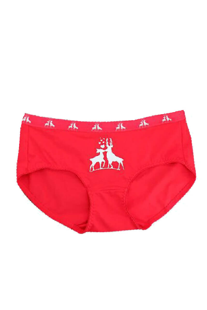 Elk Pattern Couple Matching Underwear - Lausier - Pinklouds