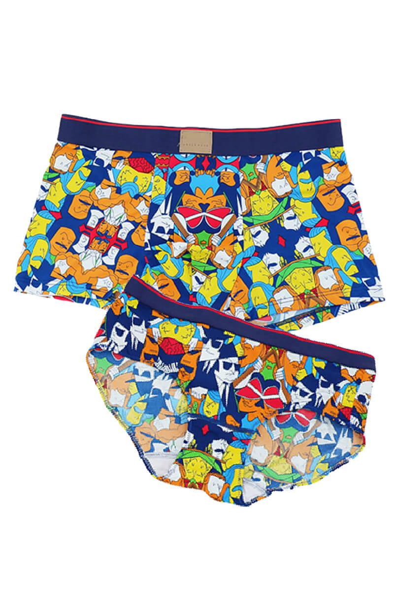 Colorful Pattern Couple Matching Underwear - Latour - Pinklouds