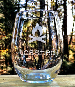 Toasted Wine Glass