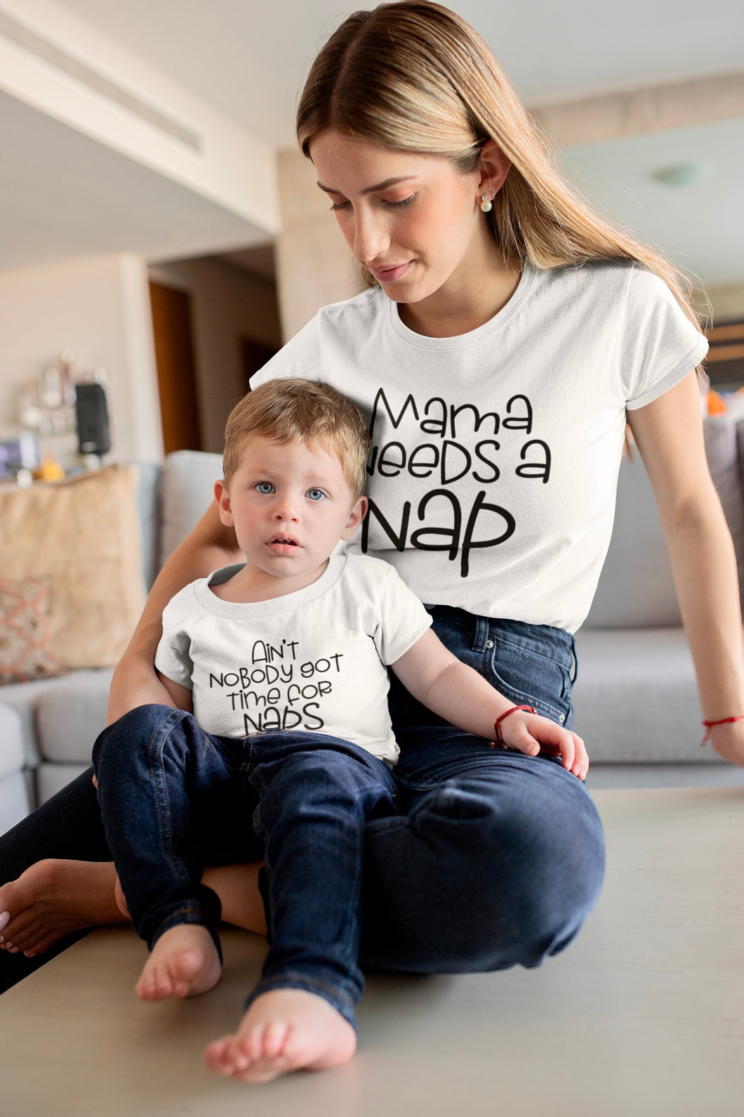 Mommy and Me Nap Shirt Set