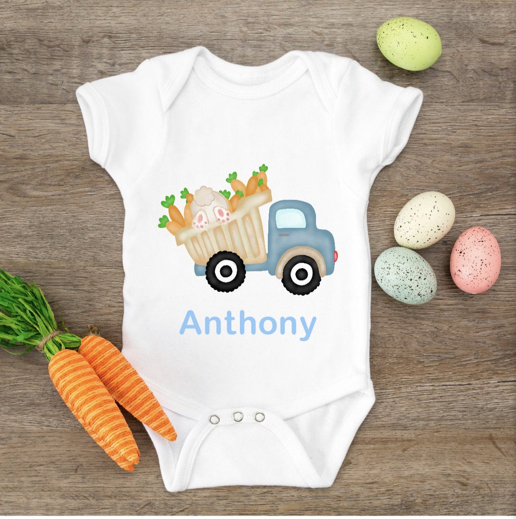 Easter Bunny Truck Shirt, Blue