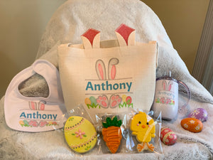 Childs Personalized Easter Bunny Gift Bag