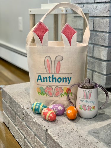 Baby Personalized Easter Bunny Gift Bag