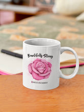 Load image into Gallery viewer, Beautifully Strong Breast Cancer Warrior Ceramic Mug