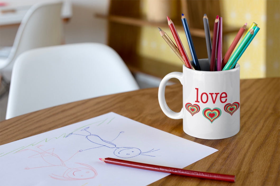 Retro Love Ceramic Mug