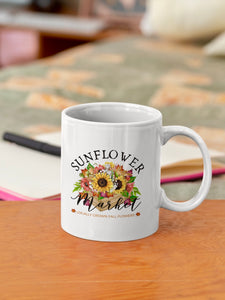 Sunflower Market Ceramic Mug