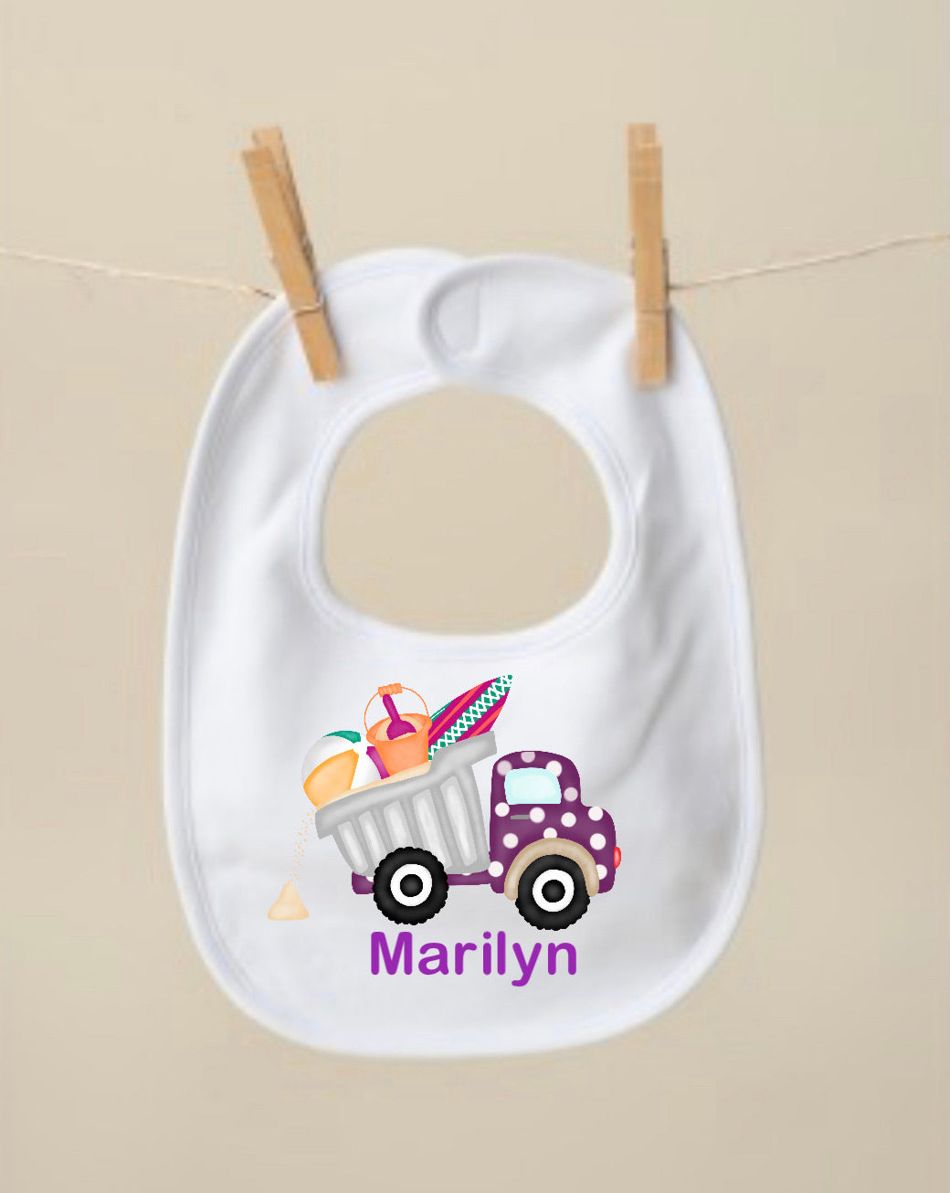 Summer Truck Bib, Purple