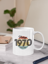 Load image into Gallery viewer, Vintage Birth Year Ceramic Mug
