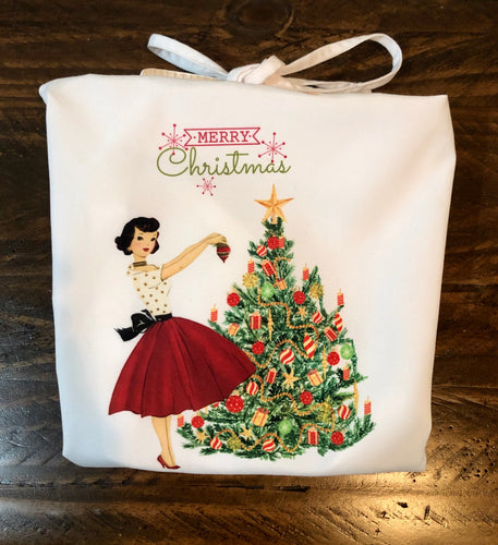 Merry Christmas Retro Apron