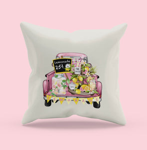 Lemonade Truck Pillow