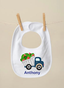 Watermelon Truck Bib, Blue