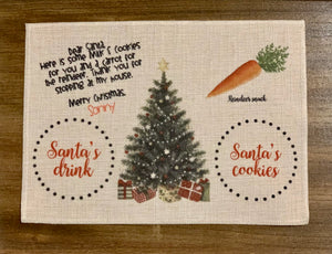 Santa's Treats Placemat, Tree