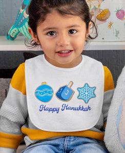 Hanukkah Cookies Fleece Bib