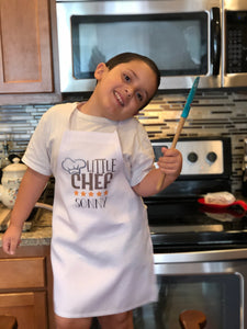 Personalized Little Chef Child's Apron