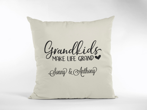Grandkids Make Life Grand Pillow