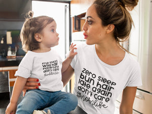 Mommy and Me Toddler Life Shirt Set