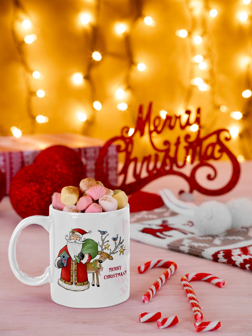 Merry Christmas Santa Ceramic Mug