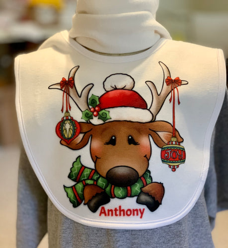Reindeer Fleece Bib