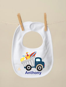 Summer Truck Bib, Blue