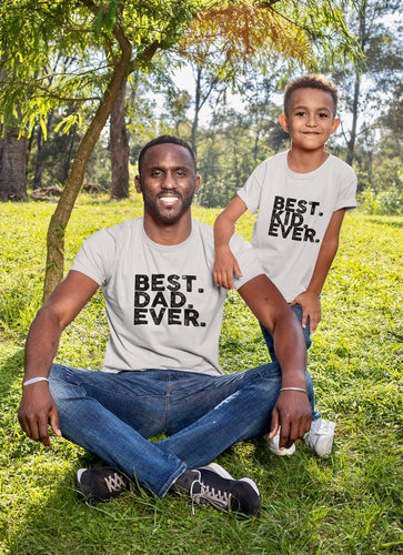 Daddy and Me Best Dad Ever Shirt Set