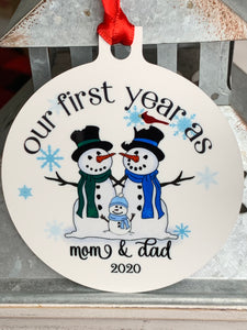 First Christmas As Mom & Dad Ornament