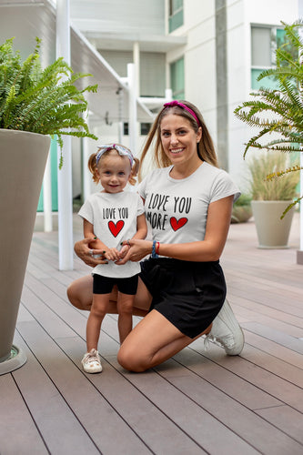 Mommy and Me Shirts/Love You Shirt Set