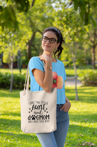 Dog Mom/Aunt Tote Bag