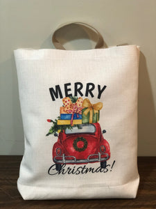 VW Christmas Retro Tote Bag