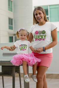 Mommy and Me Lucky Mama, Lucky Diva Shirt Set